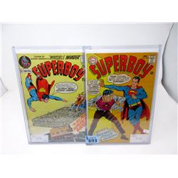 """Two Vintage """"Superboy"""" 12¢ and 15¢  DC Comics"""