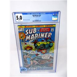 "Graded 1972 ""Sub-Mariner #55"" Marvel Comic"