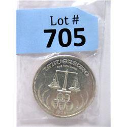 """1974 1 Oz. .999 Fine Silver """"Universaro"""" Round"""