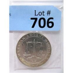 "1 Oz. .999 Fine Silver ""US Justice Scales"" Round"