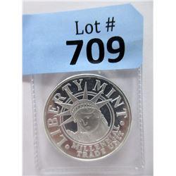 "1 Oz. .999 Fine Silver ""Liberty Mint"" Round"