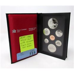 """1986 Canadian """"Vancouver Train"""" Proof Coin Set"""
