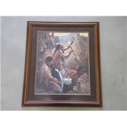 "Marked Howard Terpning ""Medicine Man of the Cheyenne"" Print- 37"" W X 43"" H- #174 /450"