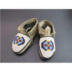 "High Plains Beaded Moccasins- 9""L"