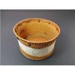 "Athabaskan Birchbark Basket- Upper Yukon- 7.5""W X 5""H"