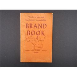 1973 Western Montana Stockman's Association Brand Book- Sanders, Lake, Flathead and Missoula
