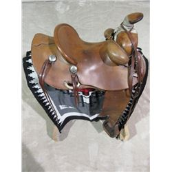 Marked Dave Jones Training Stables Makers Monticello Fla 100878 Saddle- 6 Nickel Conchos