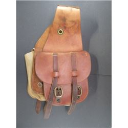 "Marked Custom Saddles Dave Fish Maker Saddle Bags- Double Straps- 8""W X 8.5""H"