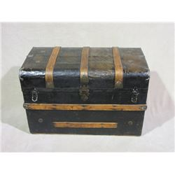 "Antique Trunk- Ribbed- 34""W X 18.5""D X 22.5""H"