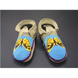 "Butterfly Beaded Moccasins- 9.5""L"
