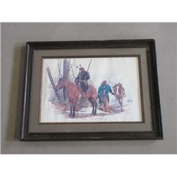 "Signed R Dorman ""Return To High Country"" Print- National Muzzle Loading Rifle…- 33.5""W X 26""H"