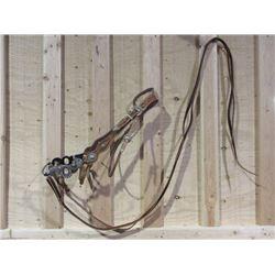 Marked Les Vogt Silver Inlaid Bit- Santa Barbara Cheek Halfbreed Mouth- Slobber Bar- Rein Chain Swiv