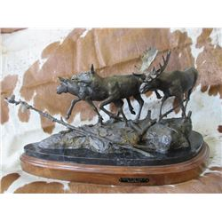 """Signed Ronald Lowery """"Move Or Lose It"""" Bronze- 20/25-  25""""W X 9""""D X 13""""H"""