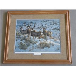 """Signed Cynthie Fisher """"Members Only"""" Print- 2319/3000-31""""W X 26""""H"""