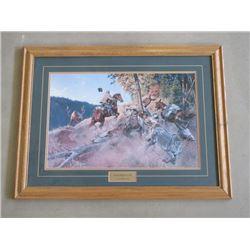 "Signed Clark Kelly Price "" Elk Omelet"" ©04 Print- 33.5"" W X 25.5"" H"