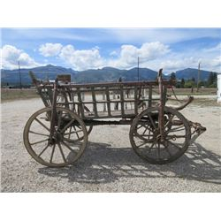 """Horsedrawn Wagon With Side Boards- 110""""L X 61""""W X 56""""H"""