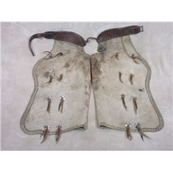 """Marked Hamley & Co Pendleton Ore 1904 450 28 Chaps- 16 Conchos- Double Row of Studs-Tooled Belt- 35"""""""