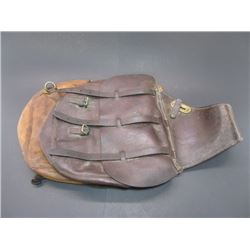 """Marked US Rock Island Arsenal Saddle Bags- Been Repaired- 21""""L X 13.5""""W"""
