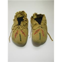 """Beaded Moccasins- Fringed- 9.5""""L"""