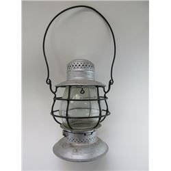 "Marked BR and PRY Lantern- Embossed Glass- 10""H X 6""W"