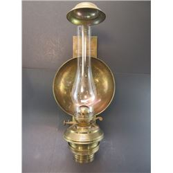 Copper Wall Hanging Oil Lamp- Marked Property of Pullman Silver Palace Car- Scott Railroad Coach Lam