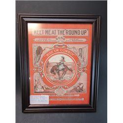 "Original Program From 1924 Pendleton Round Up- 15"" X 12"""