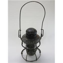 "Marked Armspear Manfg Co New York 1925 Railroad Lantern- Embossed Glass Little Wizard- Dietz- 9"" X 6"