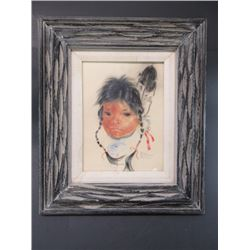 Signed Nancy McLaughlin Powell Picture- Montana Artist- Wife of Ace Powell