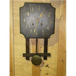 """Mission Clock- All There With Key- 23.5"""" X 12.5"""""""