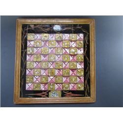 """Marked 1898 TH Inlaid Chess Board- 15"""" X 16"""""""