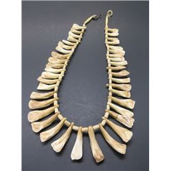 """Beaded Buffalo Tooth Necklace- Total Length 35""""- Case Not Included"""