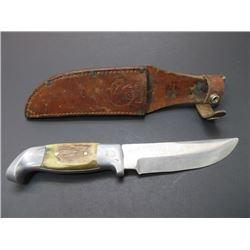 "Marked RH Ruana Bonner MT Knife- Knife Marked- Original Sheath- 5.5"" Blade- 4.5"" Handle"
