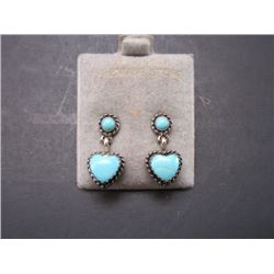 Marked Sterling and Turquoise Earrings