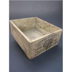 "Capewell Horseshoe Nail Co Dovetailed Box- 5 City Head- 25¢ LBS- 10.75""L X 9""W"