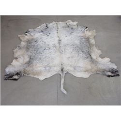 """Tanned White Park Cowhide- Good Hair- 80"""" X 80"""" Without Tail"""