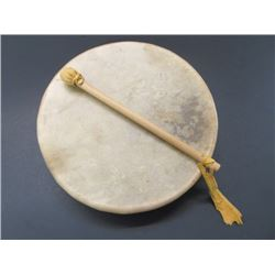 """Rawhide Indian Drum With Drumstick- 12.5"""""""