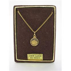 Genuine Alaskan Gold Necklace- .16 Troy OZ Including Chain