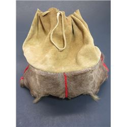 """Elk Leg Hide and Suede Leather Possibles Bag- Contemporary Draw String- 16""""L X 8""""W"""