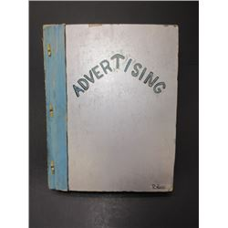 "Advertising Scrapbook- Neat Book 14"" X 11"" Circa 1920-1940"