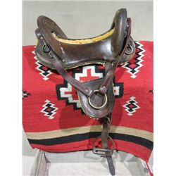 "Original McClellan Saddle- Stirrups- 12"" Seat"