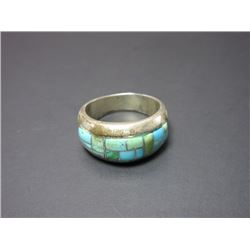 Marked Sterling and Turquoise Ring