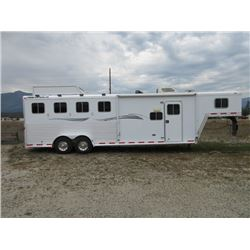 2002 Featherlite 4 Horse Slant Living Quarters Trailer- Onan 4500 Generator- New Brakes, Tires