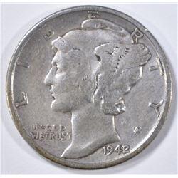 1942/1 MERCURY DIME  XF/AU