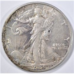 1934-S WALKING LIBERTY HALF DOLLAR  CH AU