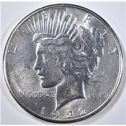 1922-S PEACE DOLLAR  GEM BU