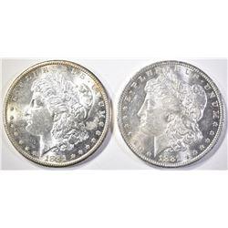 1881-S & 1881-O MORGAN DOLLARS  CH BU