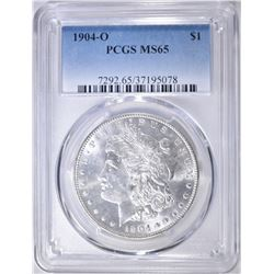 1904-O MORGAN DOLLAR  PCGS MS-65