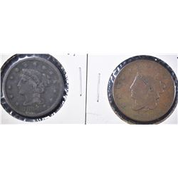 1832 VG & 1844 VF LARGE CENTS