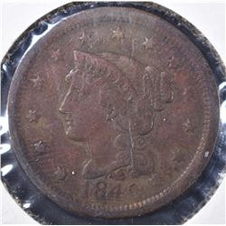 1849 LARGE CENT, XF