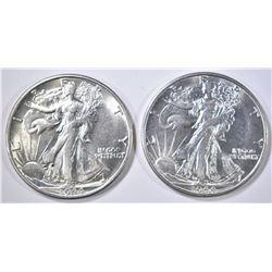 (2) 1944-S WALKING LIBERTY HALF DOLLARS